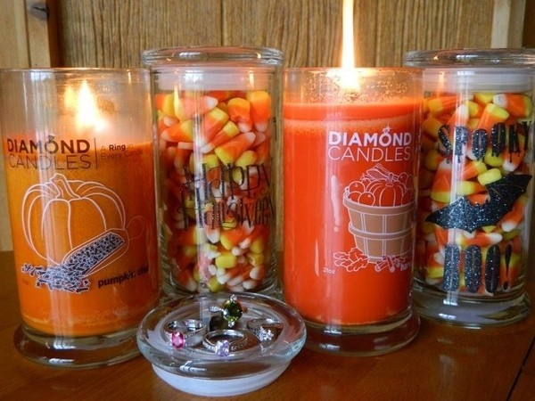 Re-use candle glasses for Halloween or other holidays!
