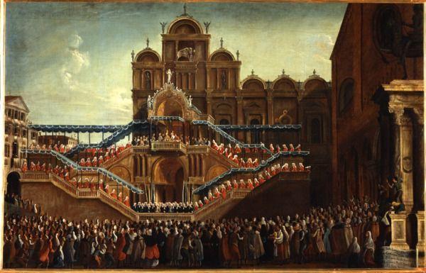 """""""La benedizione di Papa Pio VI ai SS. Giovanni e Paolo"""", 1782?-1792 #gabrielbella #querinistampalia"""