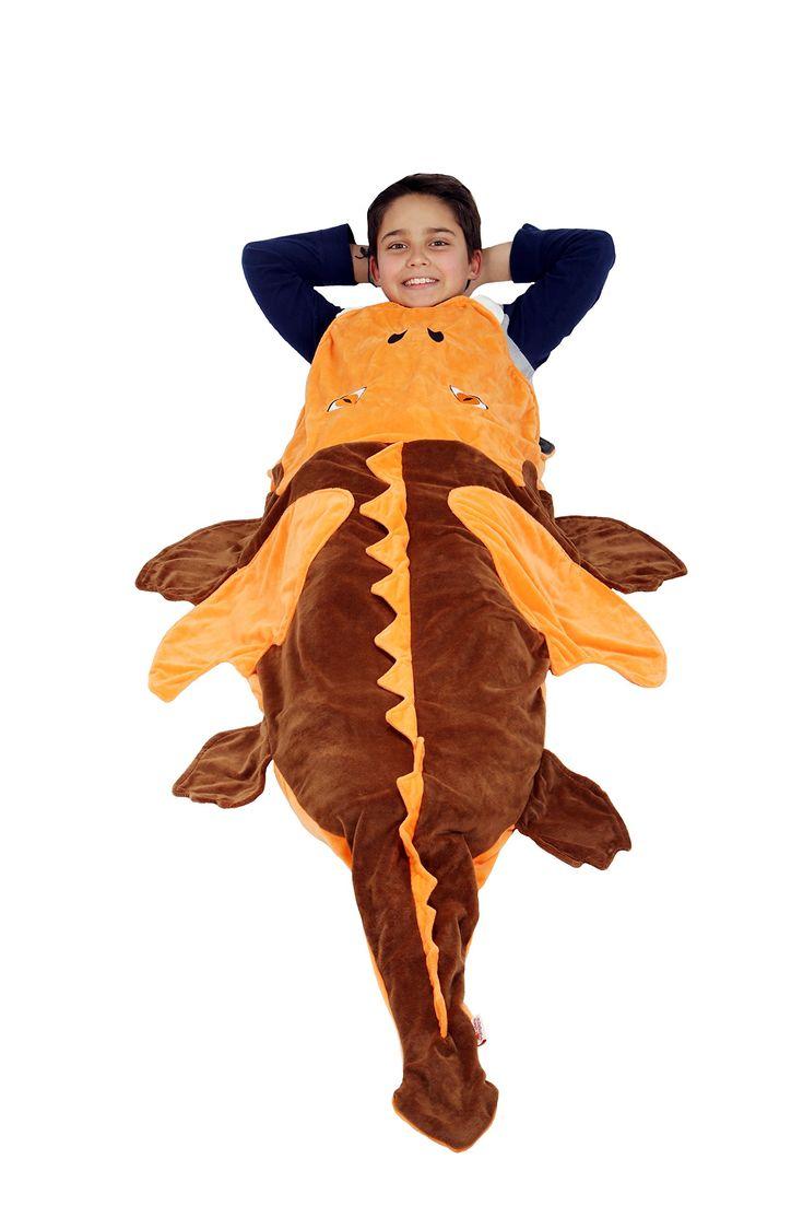 Dragon Polar Fleece Blanket,Toddler Blanket,Kids Sleeping Bag: Ultra-soft Pocket Style Keeps Kids Warm. Size 3-8 years