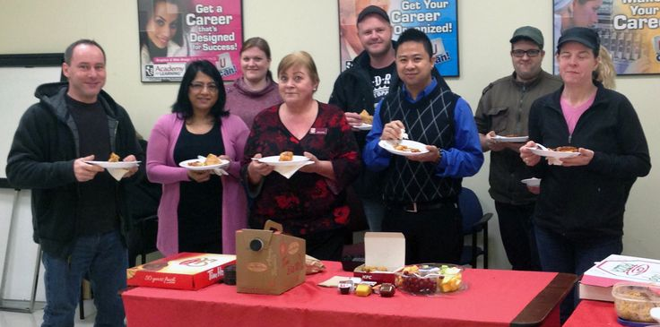 Students and staff at the Abbotsford Campus enjoyed a delicious lunch at their annual Valentine's Day potluck.