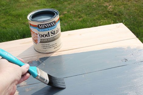 How To stain Furniture | Minwax Water Based Stain - Gray | Ana White - Homemaker