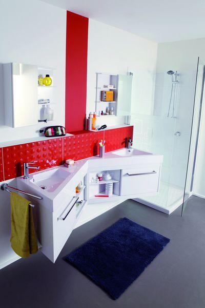 Une salle de bains deux enfants mais pas de bousculade for Facade porte meuble salle de bain