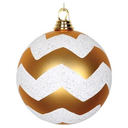 "6"" Matte-Glitter Chevron Ball - GOLD"