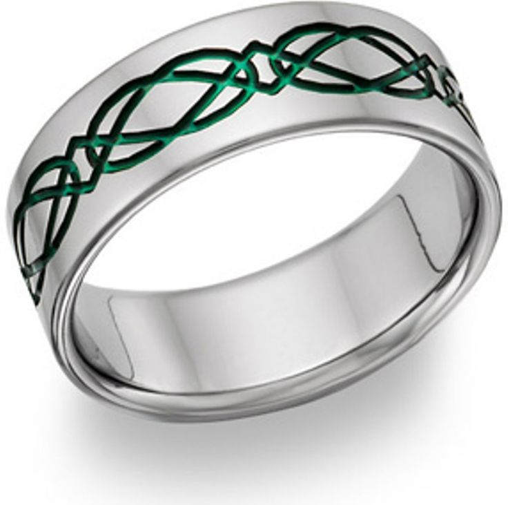 mens celtic wedding bands with emeralds
