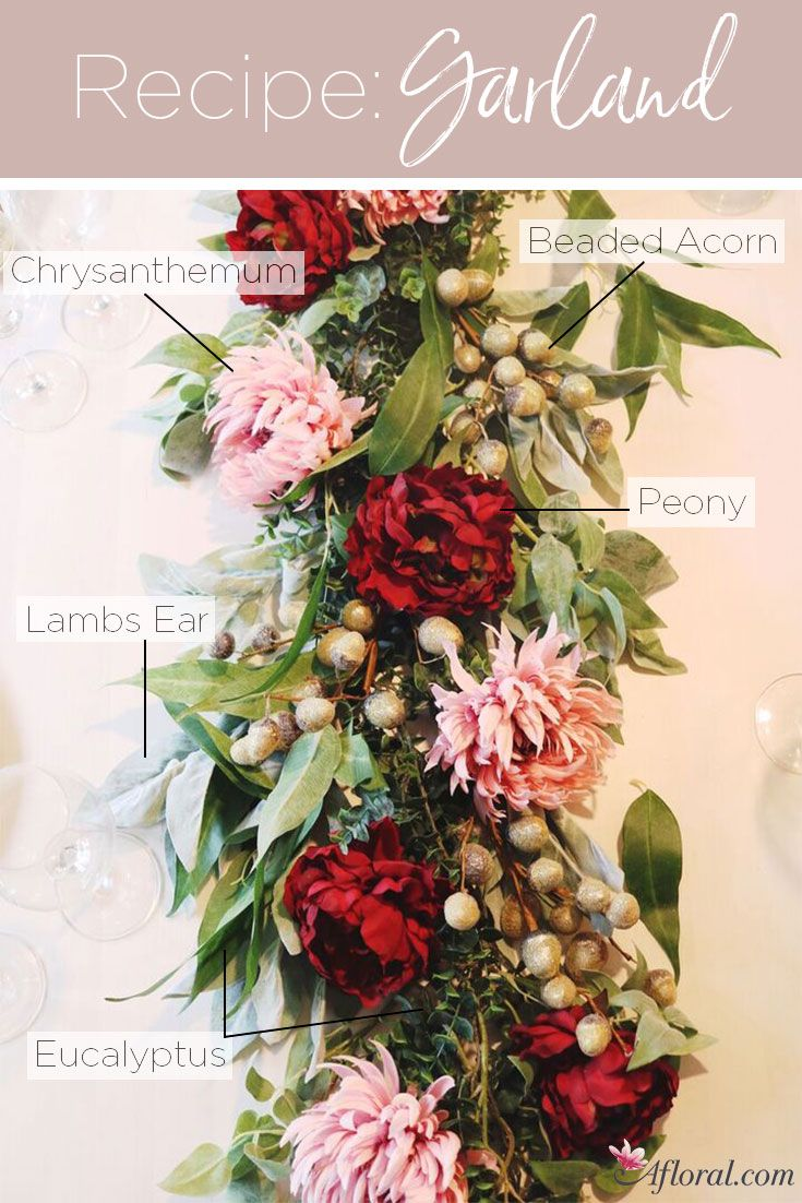 Create This Elegant And Luscious Silk Flower Garland For Your