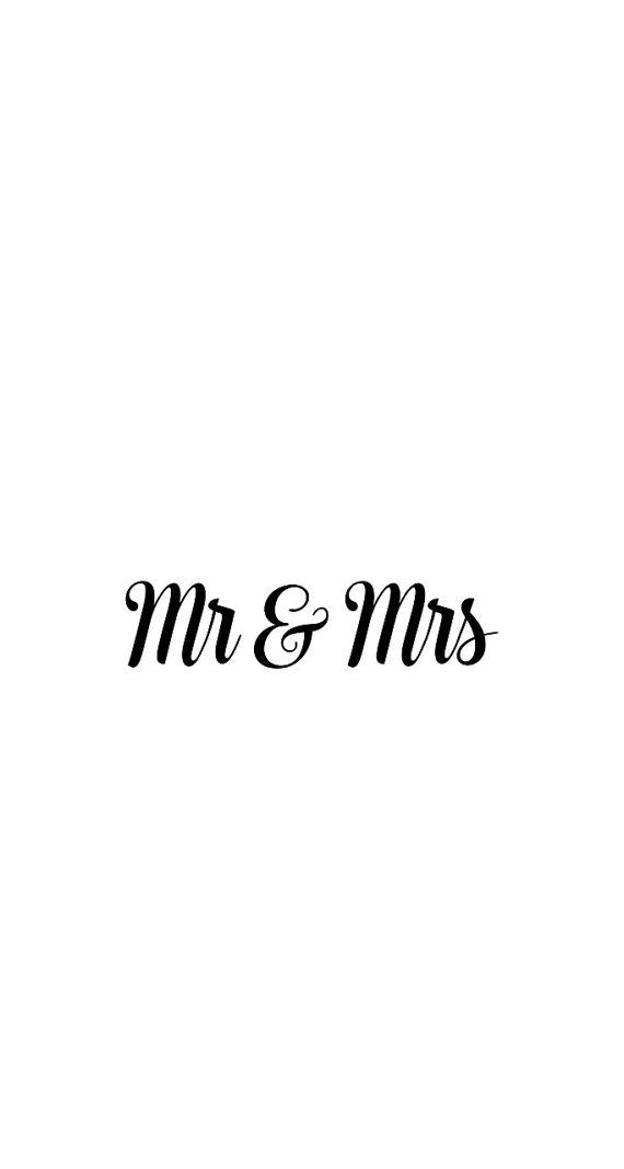 Vinyl Mr Mrs Decal Bridal Decal for Car Yeti by SSMonogramShop