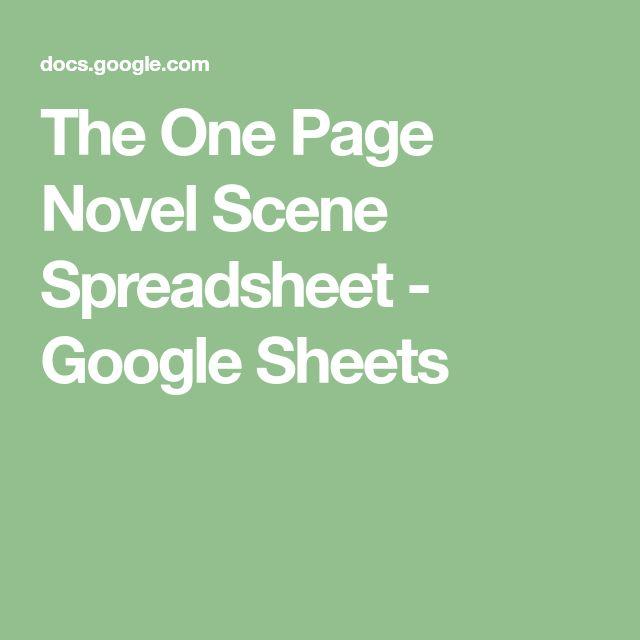 The One Page Novel Scene Spreadsheet - Google Sheets Writing