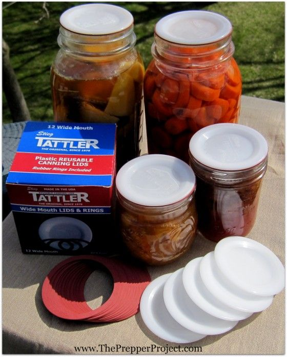 Tattle Canning Lids Review http://theprepperproject.com/tattler-reusable-canning-lids-review/