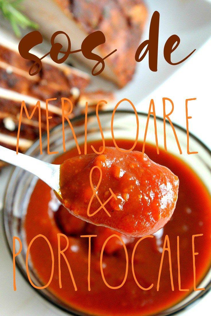 SOS DE MERISOARE SI PORTOCALE - Bucura-te de această rețetă delicioasă de sos de merisoare si portocale de sarbatori! Este acompaniamentul perfect pentru un piept de curcan la cuptor!