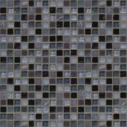 Jeffrey Court 12 in. x 12 in. Black/Azure Mosaic Tile