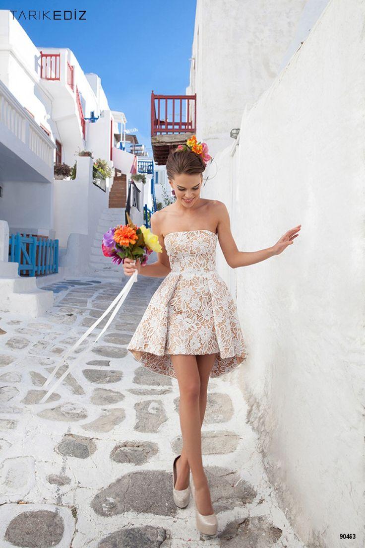 Vestidos de novia (o fiesta) cortos perfectos para pronunciar el sí quiero #vestidoscortos #bodascivil #trajesdecoctel