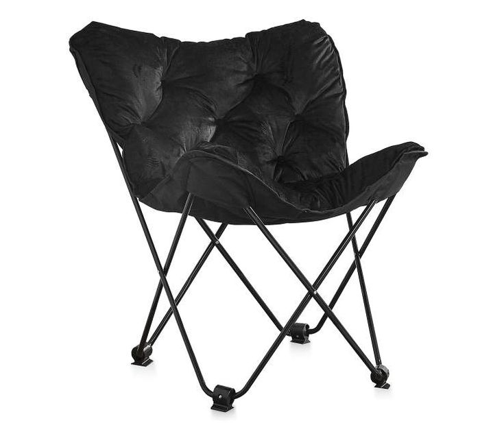 Black Padded Folding Butterfly Chair At Big Lots