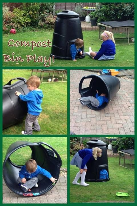 "More fun with compost bins - at Cathy's Childminding ("",)"