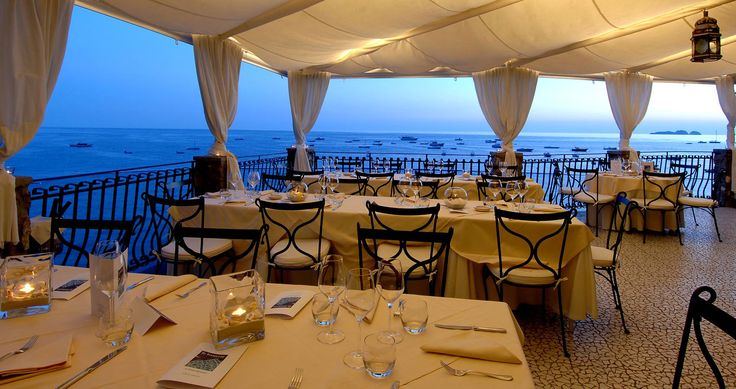 Best view of Positano, Italy!  The night view will take your breath away! And you can oly get it from Le Terrazze!
