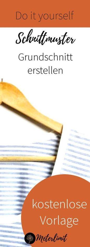 Schnittmuster selbst erstellen – Dein Basisschnittmuster für dehnbare Oberteile