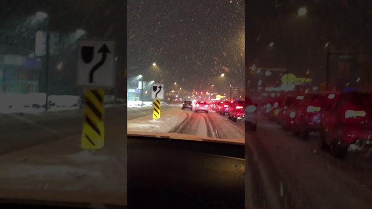 Big snowflakes, Snowstorm Metro Vancouver - YouTube