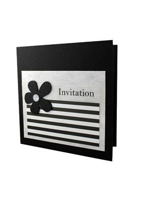 Ide til lav selv invitation - Berlin Sort