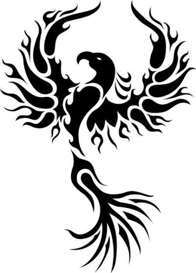 Rising phoenix tattoo