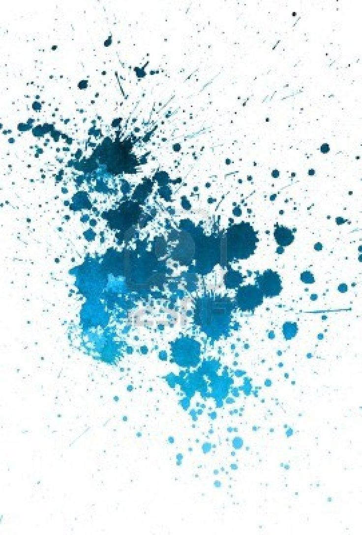 paint splatter background blue - photo #7