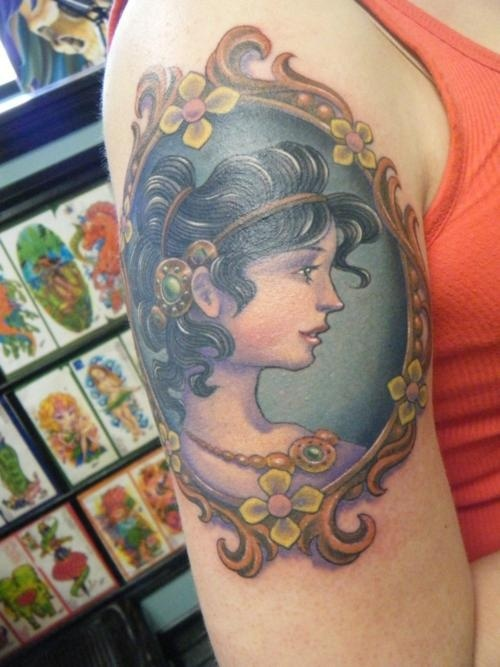 41 best cameo tattoo images on pinterest cameo tattoo for Element tattoo san antonio texas