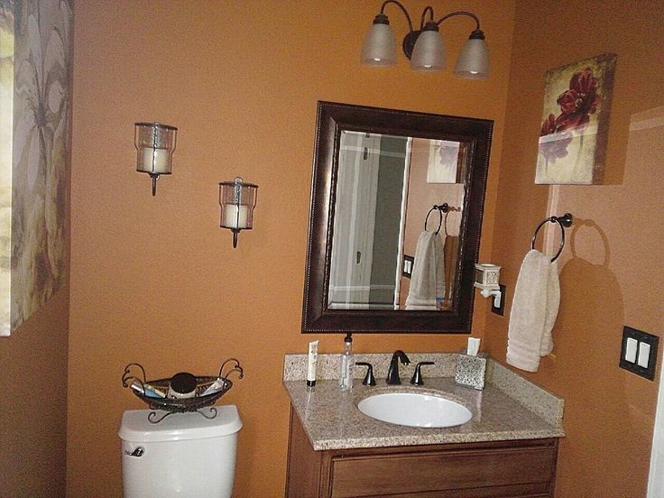 Bathroom ideas orange orange bathroom ideas decor and for Orange and grey bathroom accessories