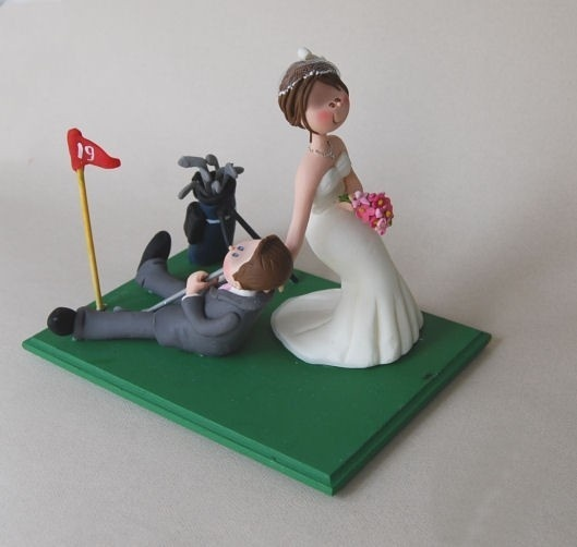 Golf wedding cake topper by maraluiza on Etsy, $150.00 cake-toppers