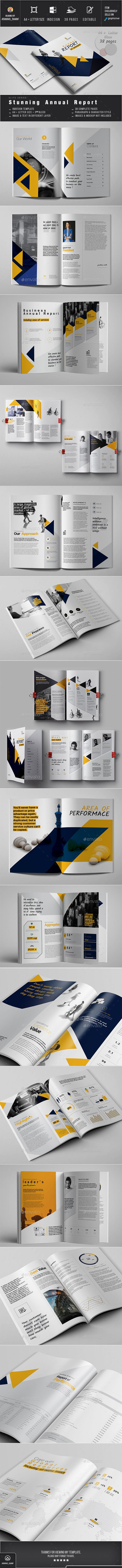 #Annual Report - Corporate #Brochures Download here: https://graphicriver.net/item/annual-report/18756570?ref=alena994