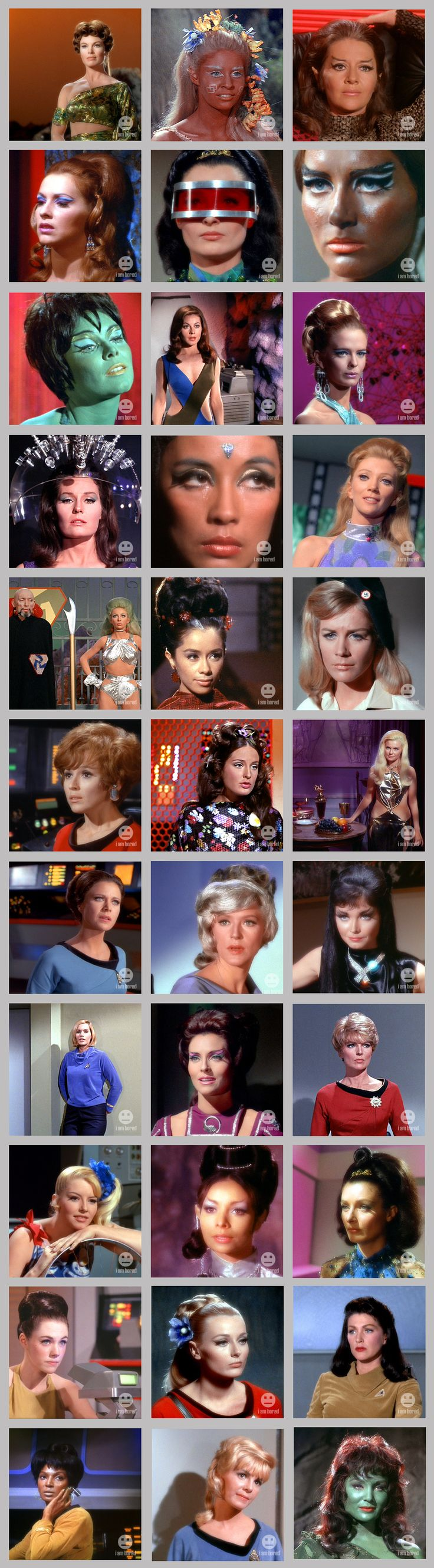 Star Trek Women - number 5 and number 27 are both Diana Muldaur, same episode, same character, same hair, same costume, but with a red visor one time.  I'm glad they left a few out.