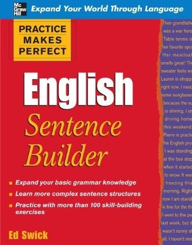 ENGLISH BOOKS ONLINE: Practice Makes Perfect English Sentence Builder