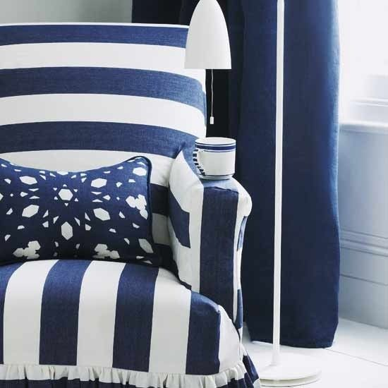 Image result for blue stripe chair