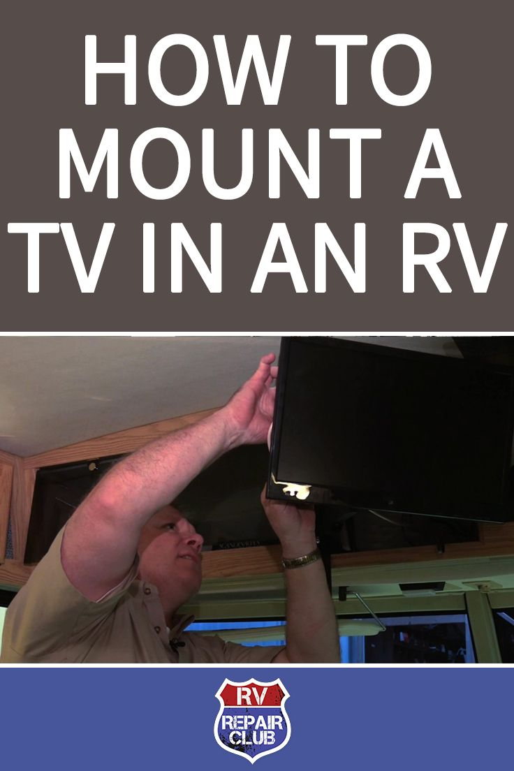 How to Mount a TV in an RV-- For years, RV manufacturers built boxes above the front of the cabin to house television sets. Most sets were thicker from front to back than they were from side to side, so they had to sit flush in a dedicated box, aimed straight toward the back of the rig. If you wanted to sit at an angle, your viewing was compromised. Today's flat screen TVs can be mounted on a swivel, so you can see them at any angle.
