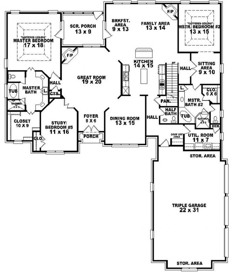Best 25+ 5 bedroom house plans ideas on Pinterest | 4 bedroom ...