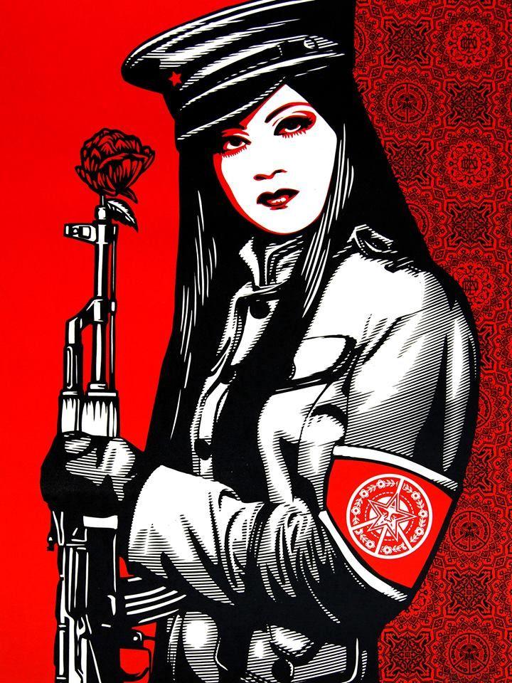 "Obey / Shepard "" Rose in Gun """