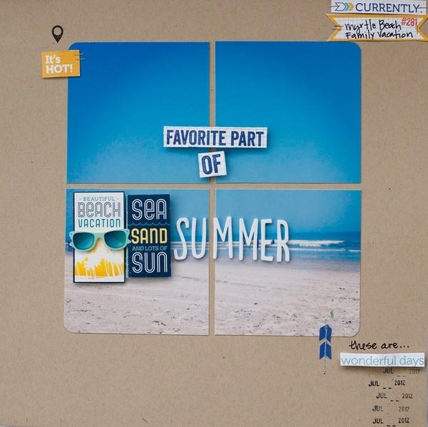 #papercraft #Scrapbook #layout.  Favorite Part of Summer--Elle's Studio - Two Peas in a Bucket