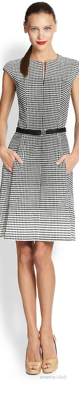 Akris Punto Spring 2014 Collection dress women fashion outfit clothing style apparel @roressclothes closet ideas