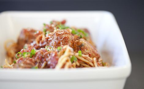 Epicure's Sicilian Spaghetti and Meatballs
