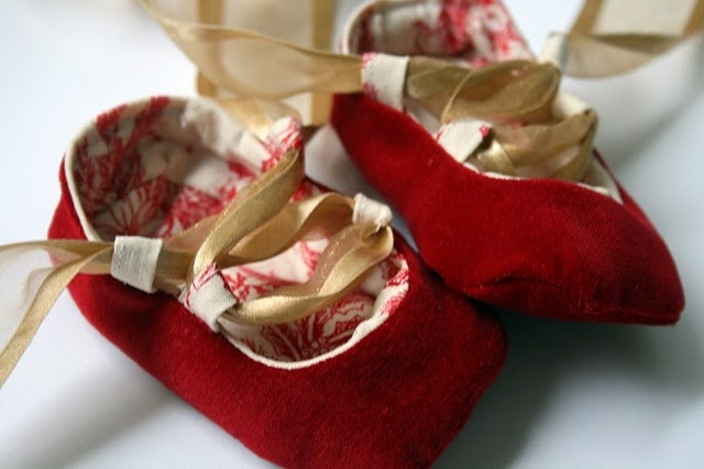diy baby ballet shoes!