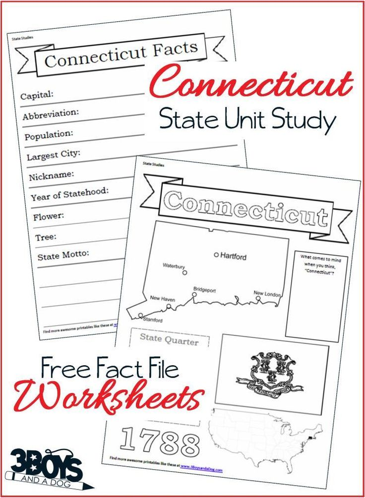 Pin1 Tweet Share +1 Share StumbleThese Connecticut State Fact File Worksheets are the perfect worksheets to help you and your child record many facts about the state of Connecticut.  When doing your 50 states unit study this year, you can keep a complete notebook about the entire United States. Did you know?  Connecticut is home to the first […]