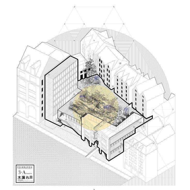 """Komorebi"" The Edinburgh Bookfestival, Albert L. Palazón - BETA #architectureportfolio"