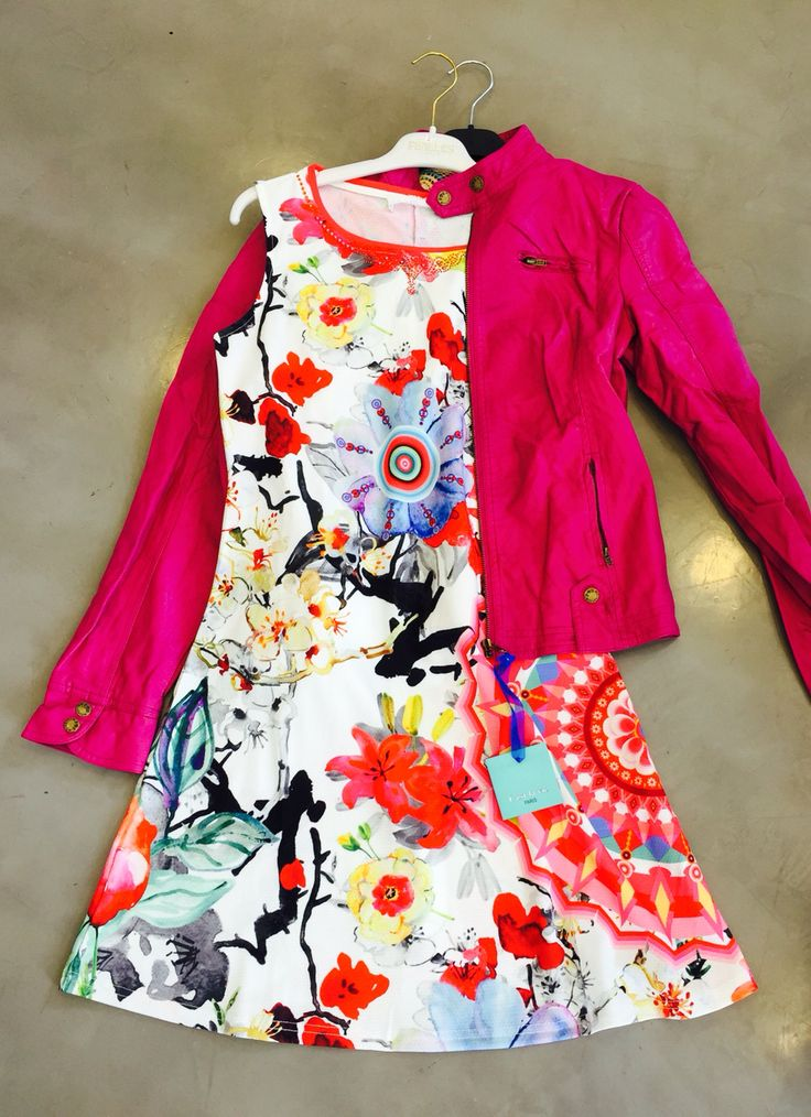 Dress with leather jacket! Dress to impress @ PUNTO DONNA boutique!!