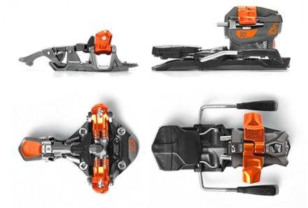 G3 Ion 10 Alpine Touring Ski Bindings with 115mm Brakes Grey/Orange 115 Mm