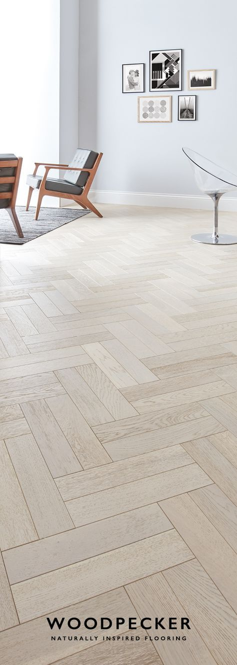 Wander barefoot along the pale, rolling tones of this graceful parquet floor. Get a free sample at our website.