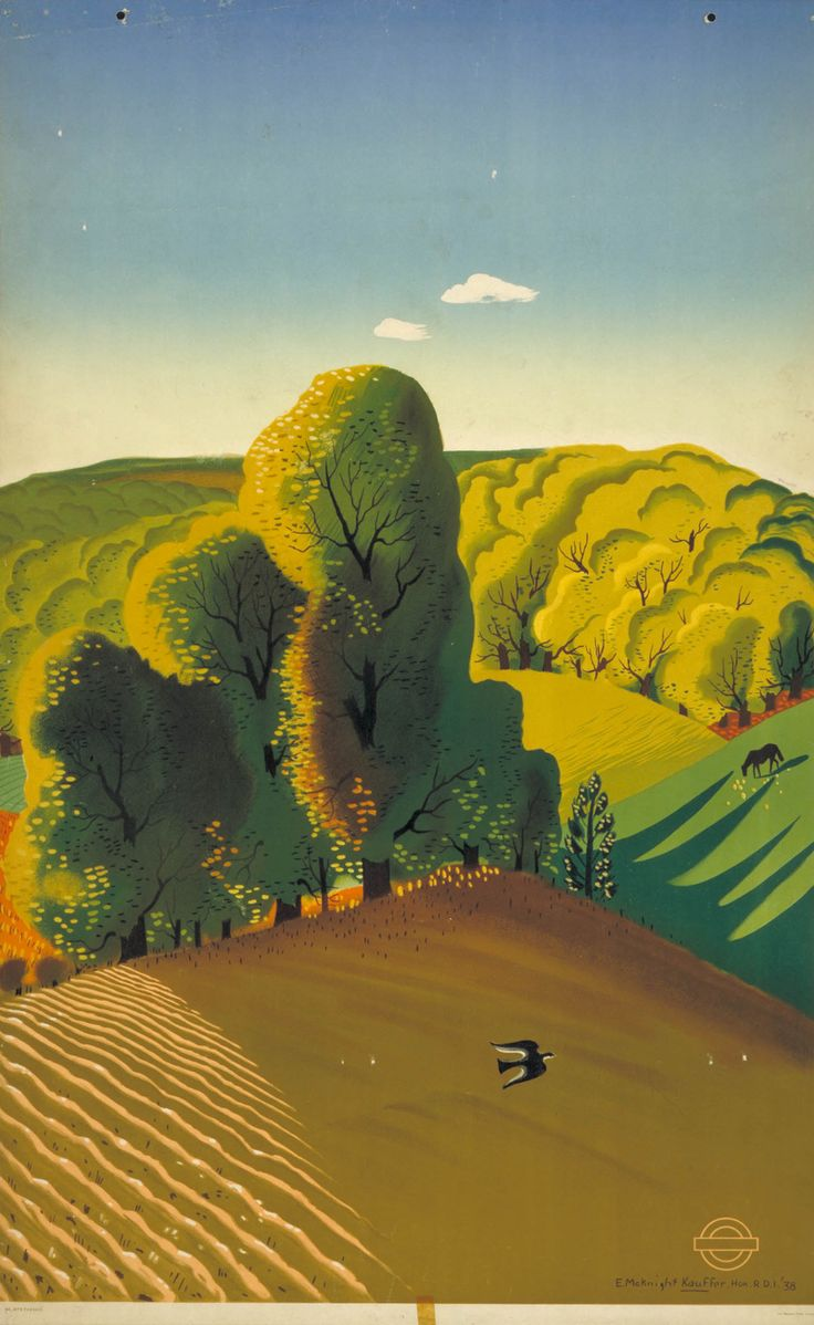 London Underground poster,  1938, Edward McKnight Kauffer