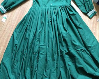 Green Cotton Day Dress