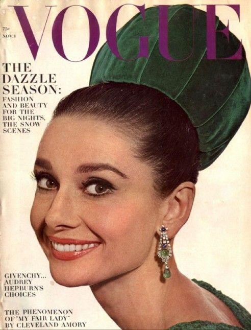 Vogue/Audrey: Hats, Fashion, Beautiful, Audrey Hepburn, Style Icons, Audreyhepburn, Vogue Magazines, Vintage Vogue Covers, Magazines Covers