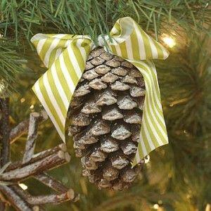 natural ornaments diy pine cone