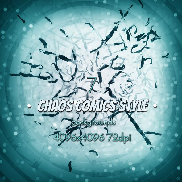 Chaos Comics Style Backgrounds #graphicriver #chaos #comics #background #design