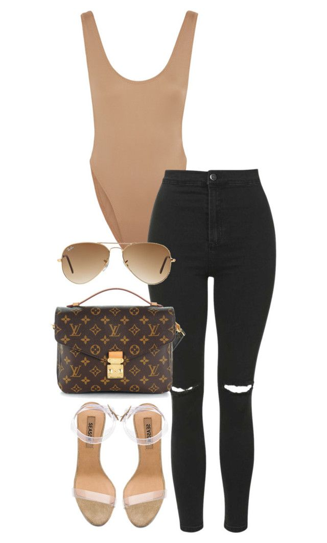 """""""Untitled #3995"""" by theeuropeancloset on Polyvore featuring Norma Kamali, Topshop, adidas, Louis Vuitton and Ray-Ban"""