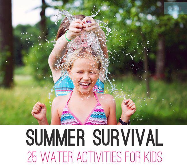 25 Water Activities For Kids #children #SummerSurvival #activities #parents #kids #Summer #vacation #outdooractivities #wateractivities #fun