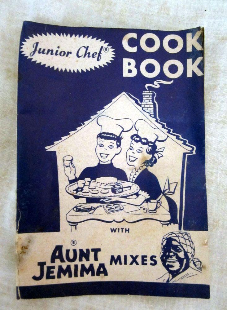 Vintage Junior Chef Cookbook Aunt Jemina Mixes